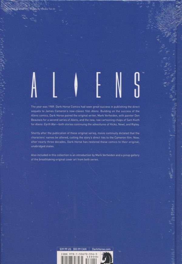 ALIENS THE ORIGINAL COMICS SERIES NIGHTMARE ASYLUM AND EARTH WAR HC (SALEństwo)