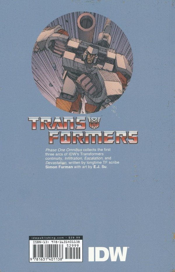 TRANSFORMERS PHASE ONE OMNIBUS TP