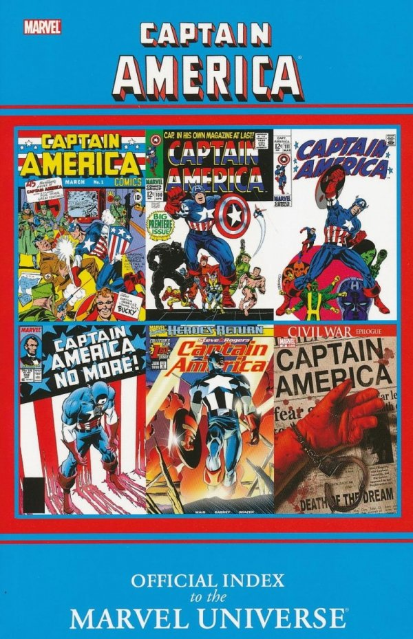 CAPTAIN AMERICA OFFICIAL INDEX TO THE MARVEL UNIVERSE SC