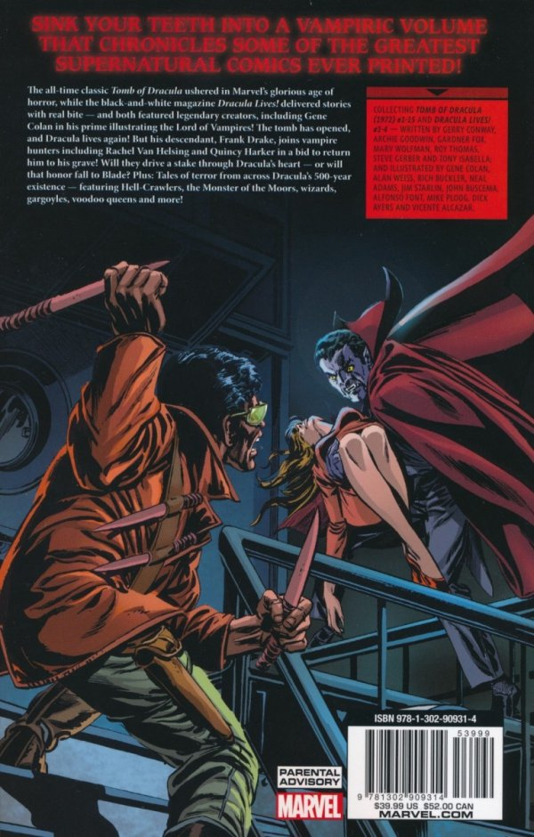 TOMB OF DRACULA THE COMPLETE COLLECTION VOL 01 SC
