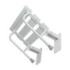 Krzesełko Prysznicowe dla Niepełnosprawnych Uchylne wzmocnione białe fi25
