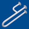 Uchwyt Umywalkowy dla Niepełnosprawnych lewy  50cm biały fi32 + MASKOWNICE