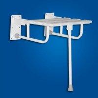 Krzesełko Prysznicowe Uchylne z nogą białe fi25