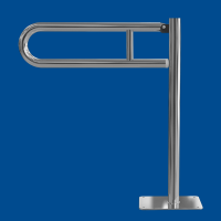 Uchwyt Uchylny WC dla Niepełnosprawnych wolnostojący 60cm stal nierdzewna fi32