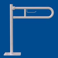 Uchwyt Uchylny WC dla Niepełnosprawnych wolnostojący z zawieszką na papier 70cm biały fi32