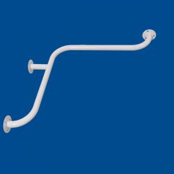 Uchwyt kątowy Prysznicowy dla Niepełnosprawnych 60/60cm biały fi32