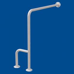 Uchwyt WC dla Niepełnosprawnych mocowany do podł-ścia prawy 80cm biały fi32