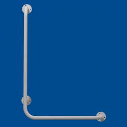 Uchwyt Kątowy dla Niepełnosprawnych lewy 80/60cm biały fi25