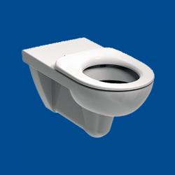 WC miska wisząca dla osób niepełnosprawnych z kołnierzem