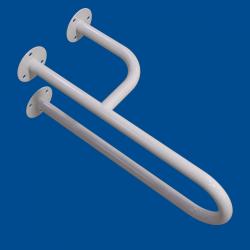 Uchwyt Umywalkowy dla Niepełnosprawnych prawy 40 cm biały fi25