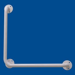 Uchwyt Kątowy dla Niepełnosprawnych 60/60cm biały fi25