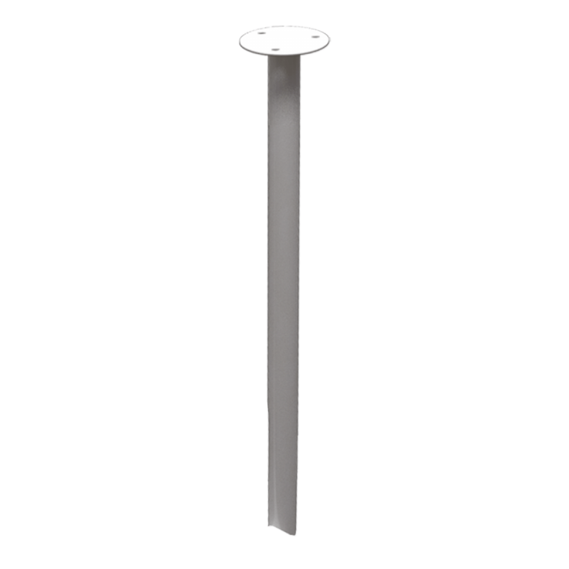Podwieszenie drążka stałe 70cm białe fi25