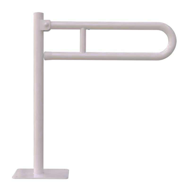 Uchwyt Uchylny WC dla Niepełnosprawnych wolnostojący 70cm biały fi32