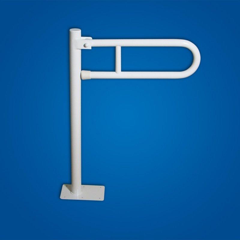 Uchwyt Uchylny WC wolnostojący 70cm biały fi32 dla niepełnosprawnych
