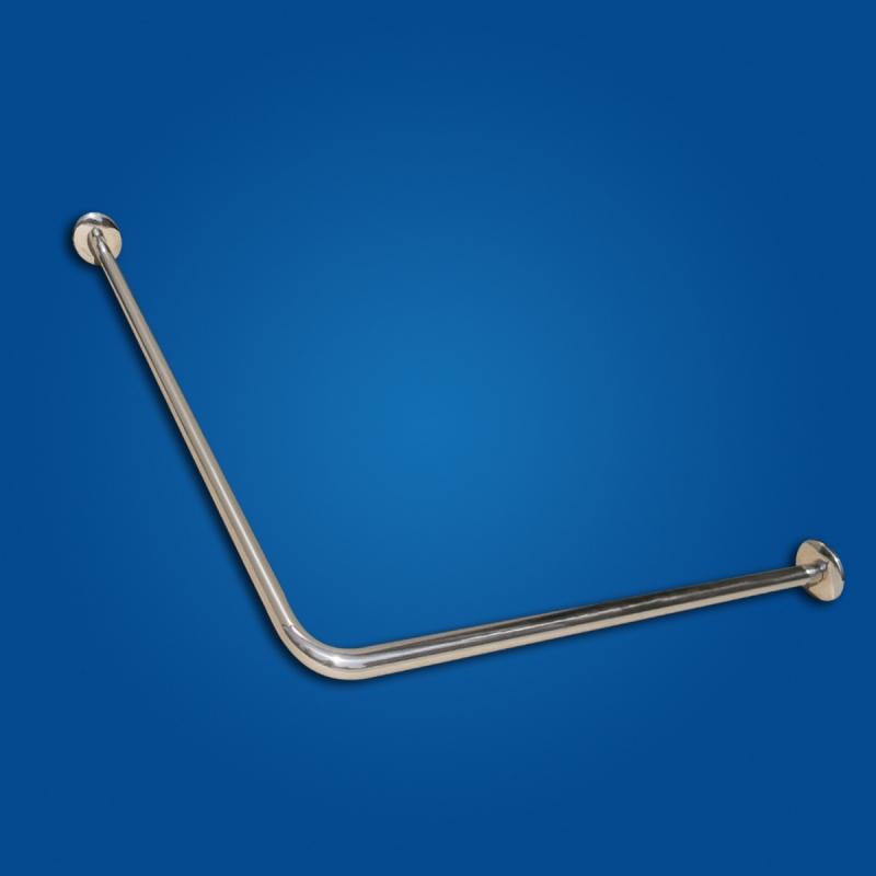 Drążek zasłony Prysznicowej 80/80cm stal nierdzewna fi25 dla niepełnosprawnych