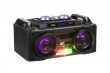 Mały przenośny aktywny zestaw DJ marki Quer z światełkami RGB, funkcją nagrywania oraz karaoke