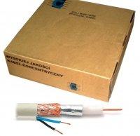 Kabel koncentryczny R-TV RG-59 +2x0.5  100m