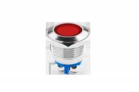 Kontrolka LED 18 mm 12V metal czerwona EK5673