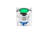 Kontrolka LED 18 mm 12V metal zielona EK5674