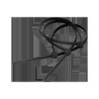 Opaski zaciskowe 4.8mm/30cm czarne