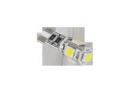Żarówka samochodowa LED T10 (Canbus) - 5x SMD5050, biała