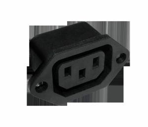 Gniazdo AC 3PIN montaż komput. Cabletech