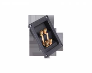 Gniazdo terminal głośnikowe 4xbanan