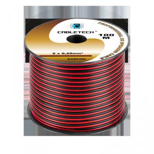 Kabel głośnikowy 0,2mm czarno-czerwony