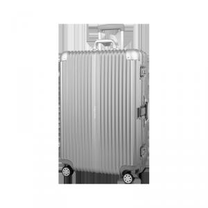 Duża walizka na kółkach Kruger&Matz srebrna