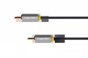 Kabel 1RCA-1RCA 0.5m  Kruger&Matz Basic