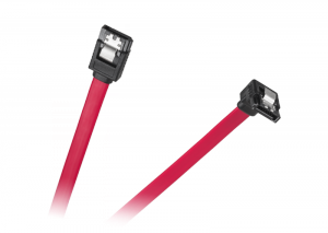 Kabel SATA  wtyk prosty - wtyk kątowy 0.5m