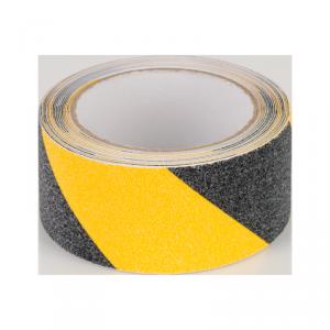 Taśma antypoślizgowa REBEL (0,75 mm x 50 mm x 5 m) czarno-żółta