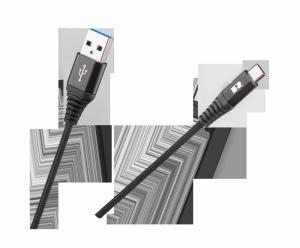 Kabel USB - USB typu C REBEL 50 cm czarny