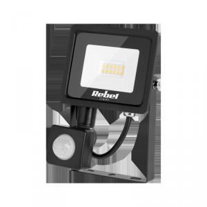 Reflektor LED Rebel 10W (12x2835 SMD), 3000K, z sensorem zmierzchu, 230V