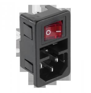Wtyk AC 3PIN komput.obudowa+włączn.