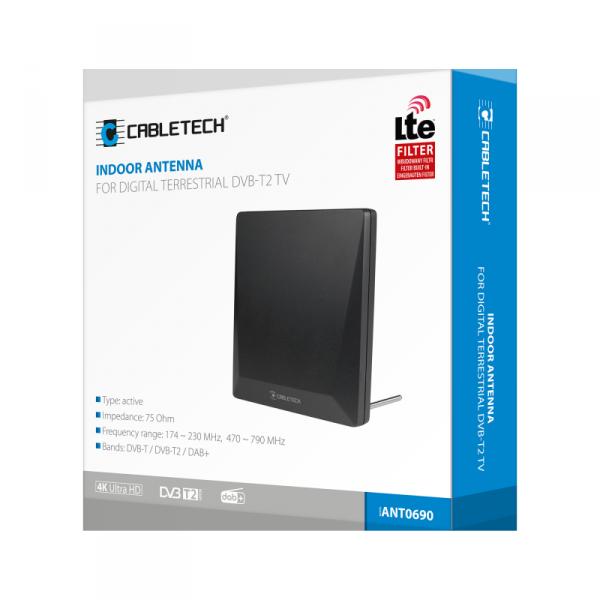 Antena pokojowa do cyfrowej telewizji naziemnej DVB-T2 Cabletech