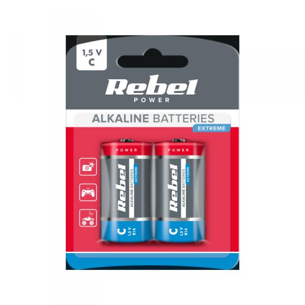 Baterie alkaliczne VIPOW EXTREME LR14 2szt/bl.
