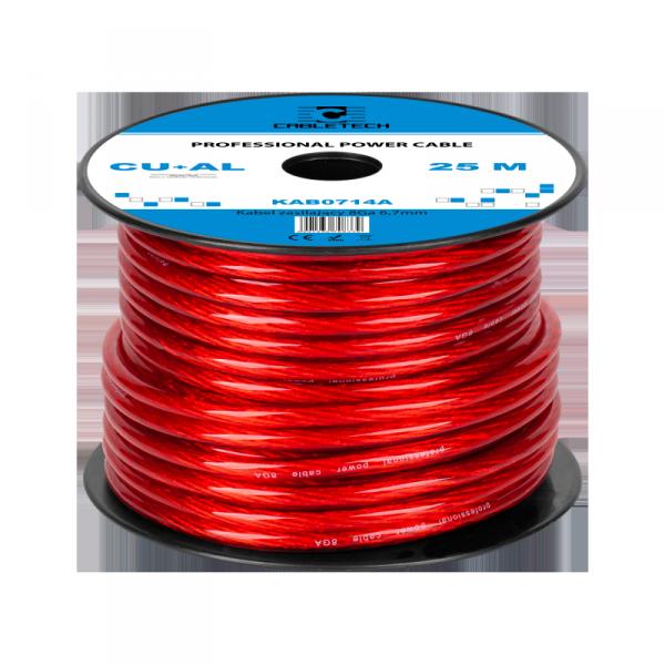 Kabel samochodowy 8Ga OD6.7mm CU+AL 25m