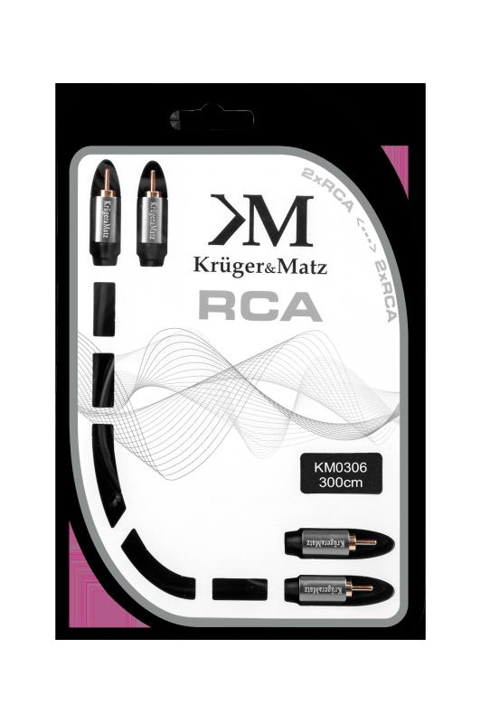 Kabel 2RCA-2RCA 3.0m Kruger&Matz