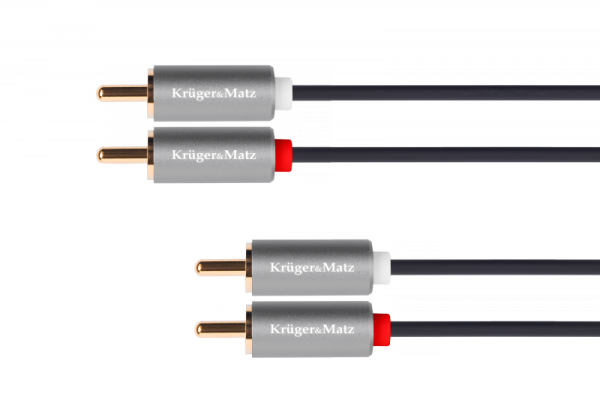 Kabel 2RCA-2RCA 1.8m Kruger&Matz Basic