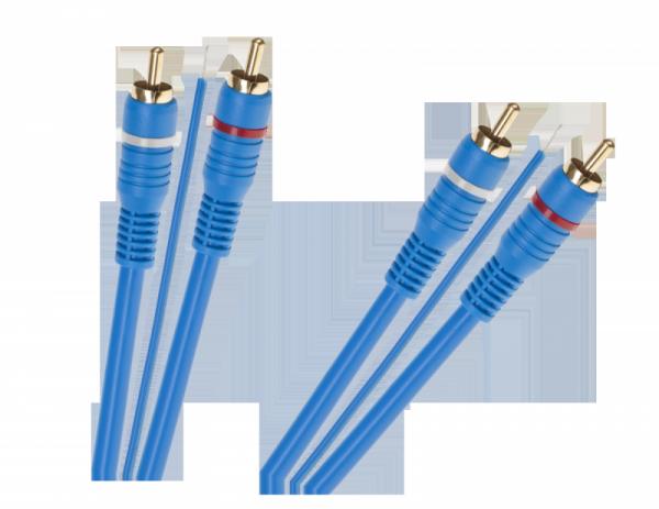 Kabel 2 x RCA - 2 x RCA + żyła 5m