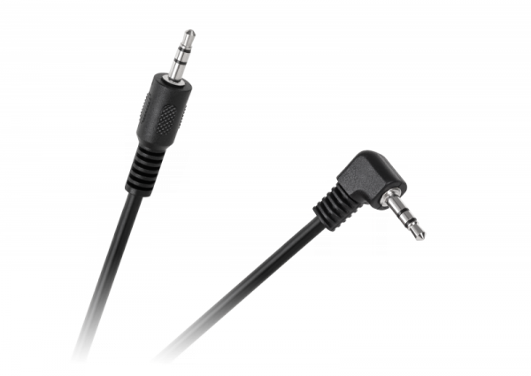 Kabel JACK 3,5 wtyk-wtyk 0,5m kątowy LX8053K 0,5M