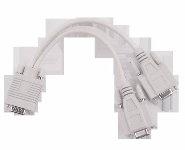 Adapter VGA (15pin męski) -2x (15pin żeński)