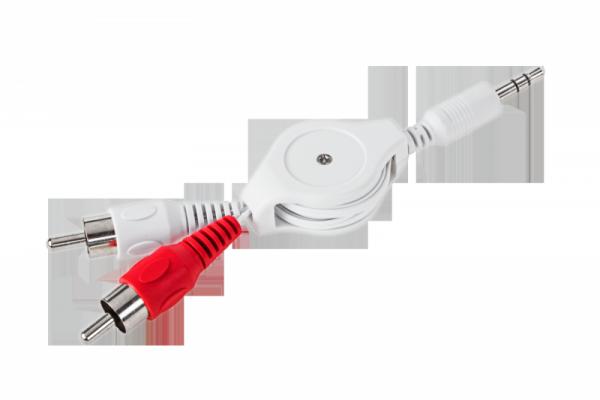 Kabel Jack 3,5 - 2 RCA zwijany 0,8m