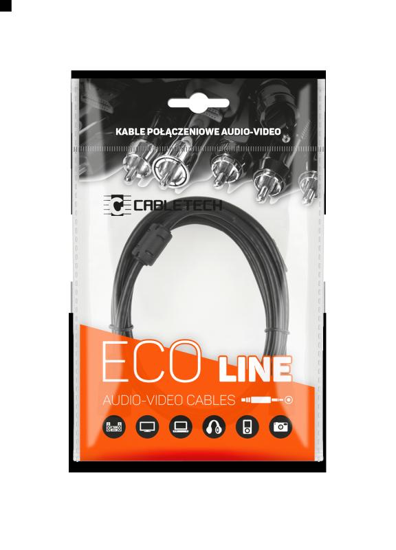 Kabel jack 3.5 wtyk-gniazdo 5.0m Cabletech Eco-Line