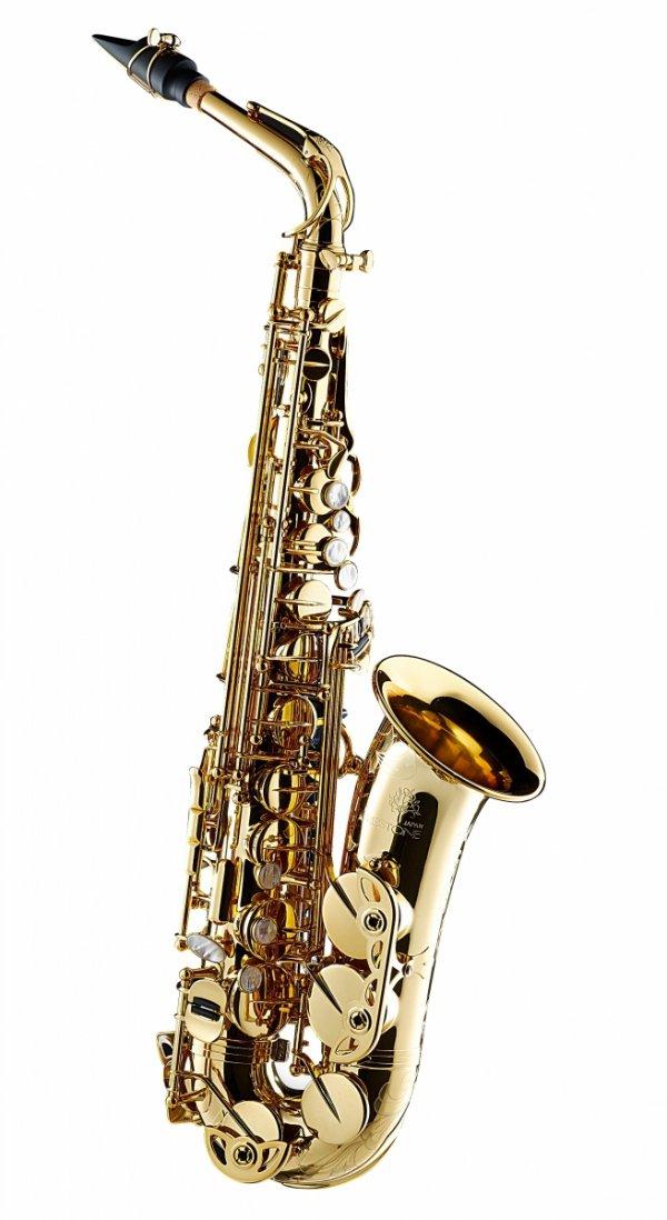 Saksofon altowy Forestone lakierowany, zdobiony, SX straight tone holes wystawowy