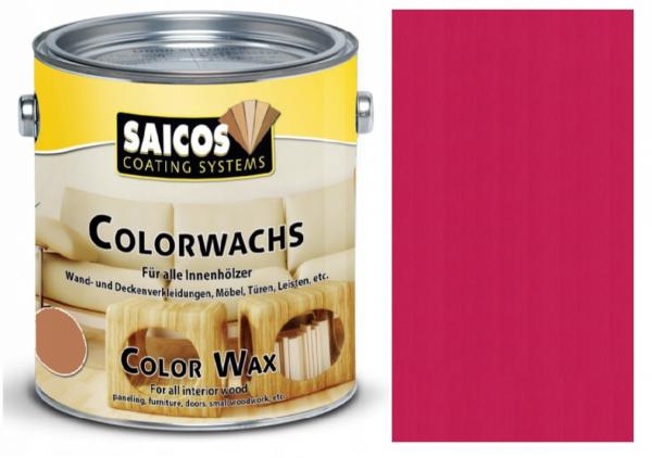 Wosk dekoracyjny do drewna Saicos Colorwachs 0,75 L MALINOWY 3033