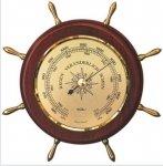 Barometr Fischer 1768-22 w drewnianym kole sterowym