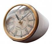 Zegar na biurko, wykończenie skóra - CLK-0211B duży