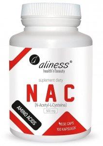 NAC N-Acetyl-L-Cysteine 500 mg x 100 Vege caps Aliness